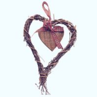 Gorgeous 'Merry Christmas' Hanging Wicker Heart